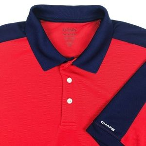 Chaps Golf Red Blue SS Tennis Rugby Polo Shirt XL